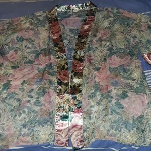 Victoria's Secret Vintage Gold Label Sheer Robe OS